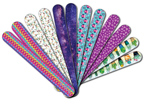 New8Beauty Emery Board Colorful (12-Pack) - Nail Spa Party Favors Supplies - Best Stocking Stuffers Gift for Girls Women Kids Mom Girlfriend - Manicure Pedicure