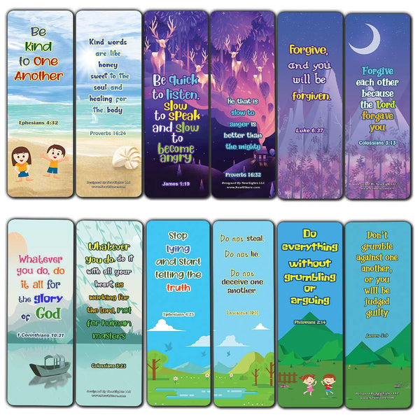 Bible Bookmarks for kids - Character Building Series 1
