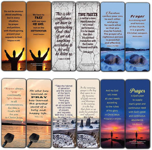 Prayer Bible Verses and Christian Quotes Bookmarks (12-Pack) - Collection of Prayers