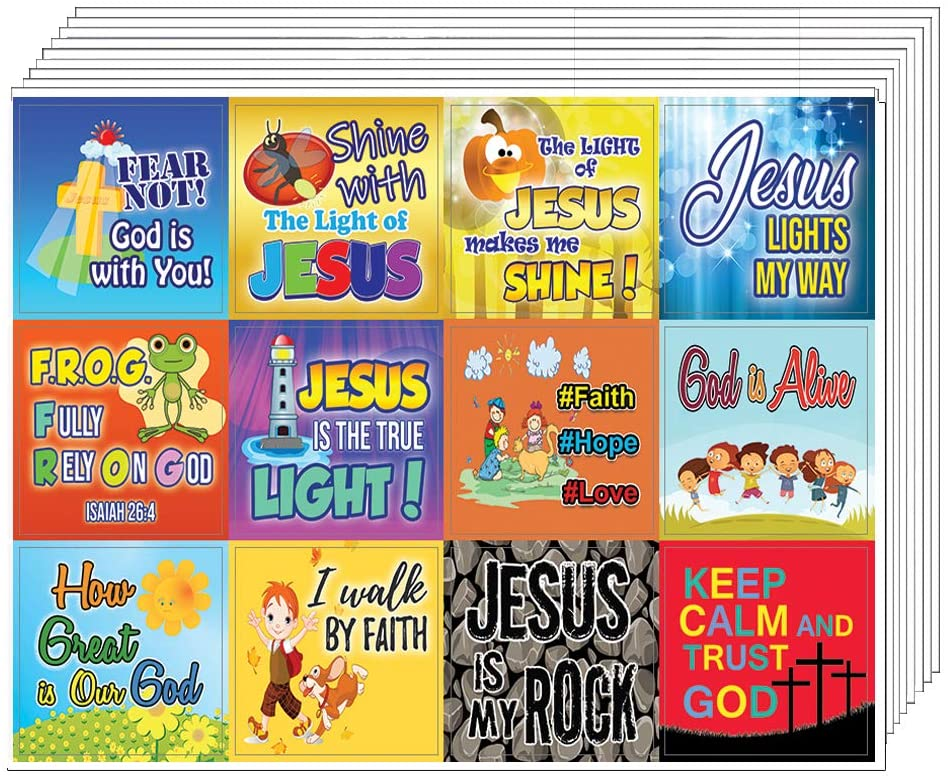 SHINE FOR JESUS STICKERS (10-SHEETS) - Perfect Incentives for Kids To Motivate Them To Perform Well
