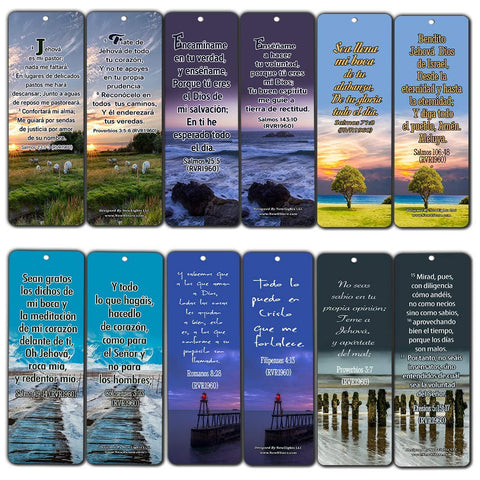 Spanish Powerful Bible Verses to Live by Bookmarks (RVR1960)