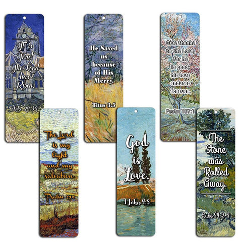 Bible Bookmarks - God is Love (12-Pack) - Great Inspirational Gifts for Christian Church Event, Youth Group, Easter Day, Thanksgiving, Christmas, Everyday Occasion to Remind Us of God's Love