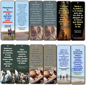 Spanish Bible Scriptures about Family (30 Pack) - Bible Texts That Helps One Know About the Significance of the Family
