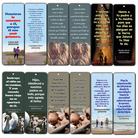 Spanish Bible Scriptures about Family
