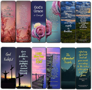 Bible Verses Bookmarks for When Your Faith Is Feeble (30-Pack) - Stocking Stuffers Bible Study Materials Scriptures - Church Ministry Bible Study Church Supplies Teacher Incentive Gifts