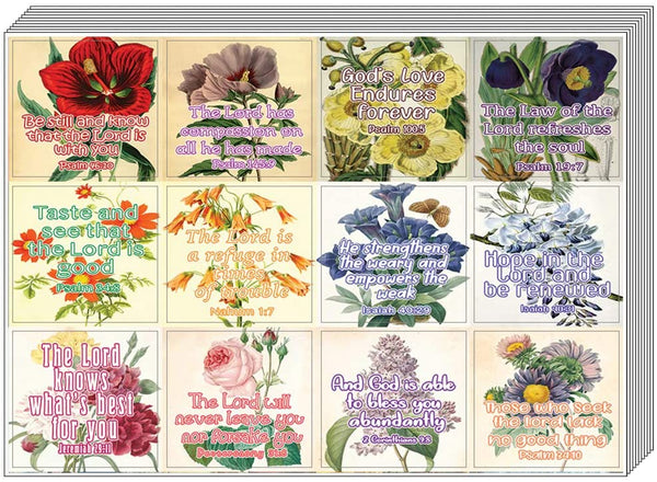 Christian Stickers for Women Series 5 (5-Sheet) - Great Variety Colorful Stickers