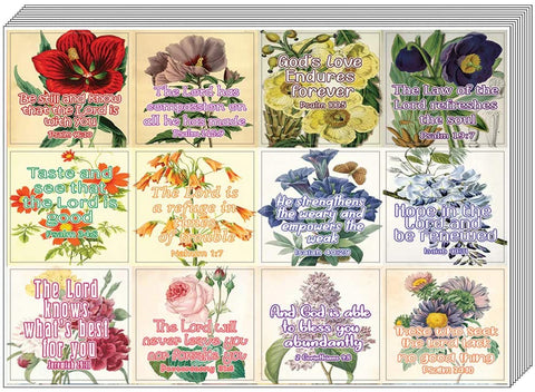 Christian Stickers for Women Series 5 (20 Sheets) - Assorted Mega Pack of Inspirational Stickers
