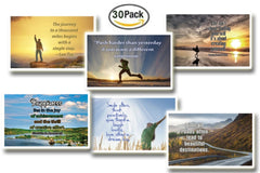 NewEights Inspirational Quotes Postcards (30 Pack)
