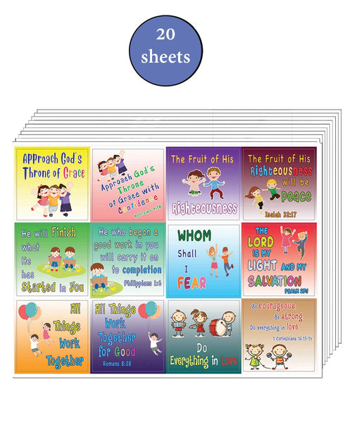 Confidence Building Scriptures Stickers for Kids