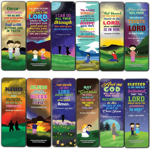 Top Bible Verses about God's Blessings NIV Bookmarks for Teens (30-Pack) - Stocking Stuffers for Boys Girls - Children Ministry Bible Study Church Supplies Teacher Classroom Incentives Gift