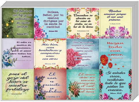 Spanish Christian Stickers for Women Series 3 (20-Sheet) - Perfect Giftaway for Women's Ministry