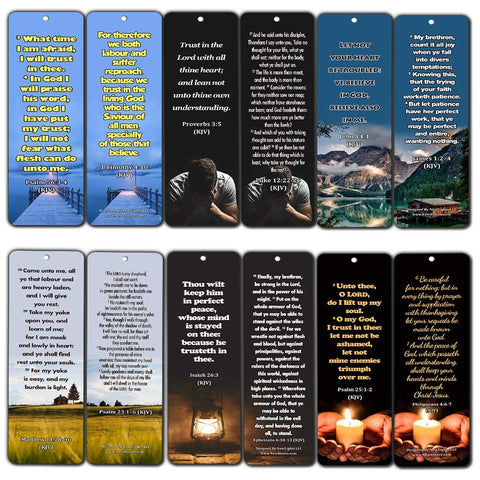 KJV Religious Bookmarks - Bible Verses About Trusting the Lord During Crisis