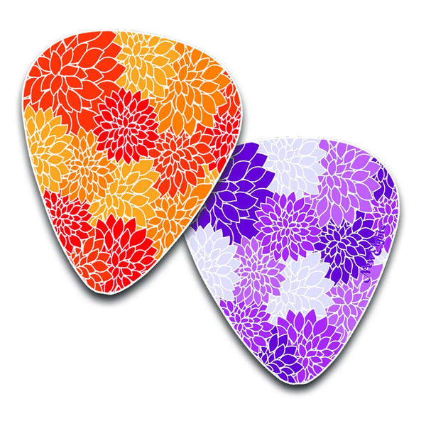 Colorful Pattern Guitar Picks - Great Assortment Of Colorful Pattern Guitar Picks For Musicians