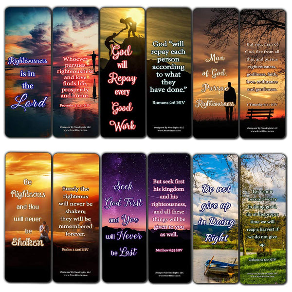 Encouraging Scriptures Bookmarks About Righteousness