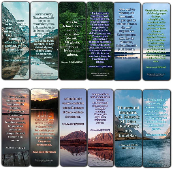 Spanish Encouraging Scriptures for Those Overcoming Depression Bookmarks (60-Pack)