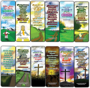 I Choose God Bible Verses Bookmarks Cards (60-Pack) - Church Memory Verse Sunday School Rewards - Christian Stocking Stuffers Birthday Party Favors Assorted Bulk Pack