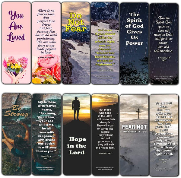 Bible Verses About Anxiety Bookmarks (30-Pack) - Stocking Stuffers Encouragement Tool - Bible Study Release Your Worries Church Supples Teacher Classroom Incentives Gifts