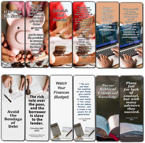 Christian Bookmarks for Biblical Financial Principles Series 4 (30 Pack) - Biblical Principles About Financial Freedom