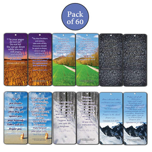 Bible Verse Bookmarks Cards (60-Pack) Anger & Forgiveness - Choose To Forgive - Heal Relationships - Finding Release from the Bondage of Anger and Bitterness - Get Your Life Back