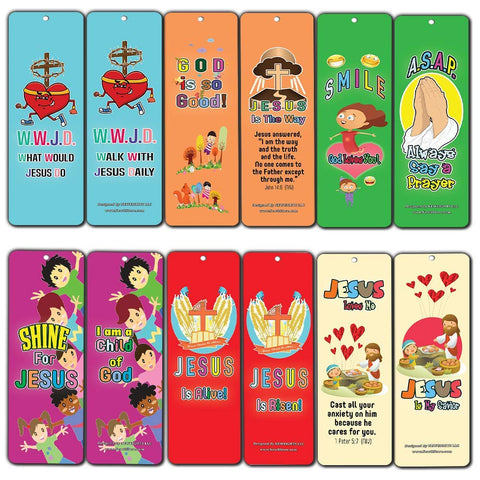 WWJD Jesus is Lord Awesome God Bookmarks for Kids - WWJD Theme
