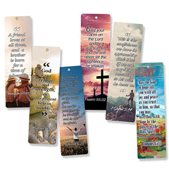 Christian Bookmarks (60-Pack) with Popular Inspirational Bible Verses - Wall Room Decor - Prayer Cards