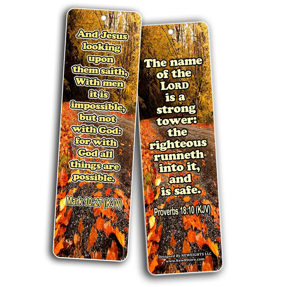 Encouragement Bible Verses and Quotes Bookmarks KJV – New8Store