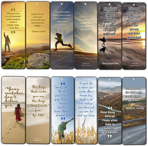 Inspirational Quotes Bookmarks Cards (30-Pack) - For Inspiring and Encouraging Men and Women - Sunday School Rewards Christian Stocking Stuffers Birthday Party Favors Assorted Bulk Pack