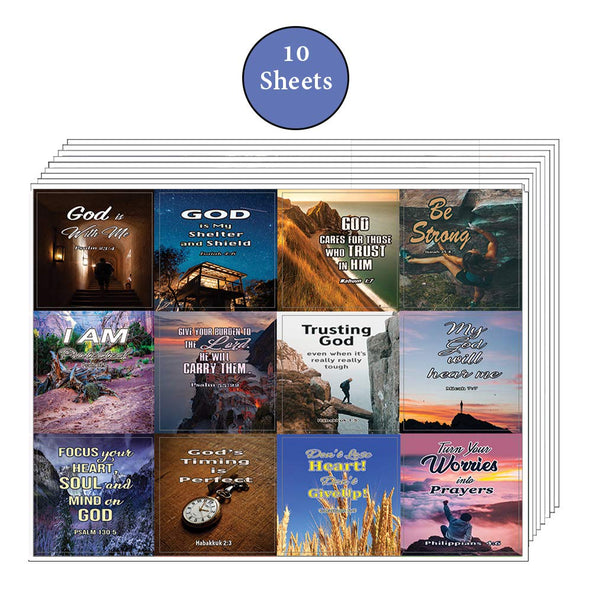 Religious Stickers on God's Guidance (10 Sheets)