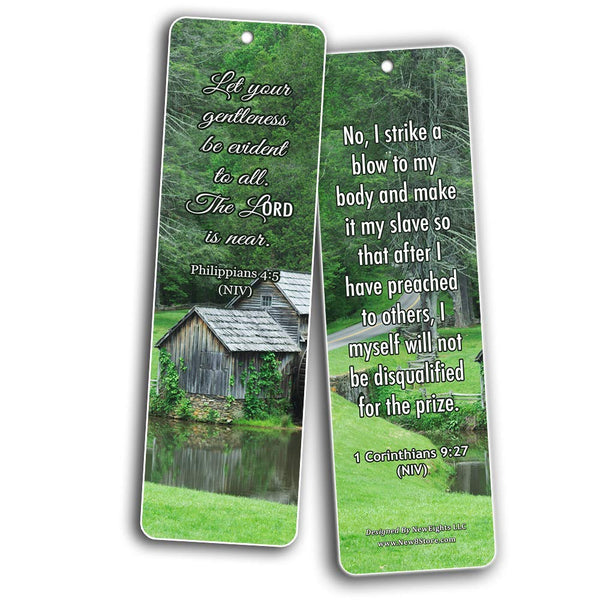 Bible Verses Related to Temperance Bookmarks