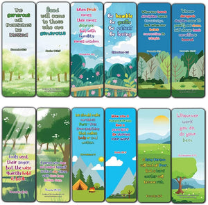 Bible Bookmarks for kids - Character Building Series 2 (60 Pack) - Perfect Gift away for Sunday School and Ministries - Church Ministry Supplies Classroom Teacher Incentive Gifts Giveaways