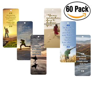 NewEights Inspirational Bookmarks (60-Pack) for Men and Women
