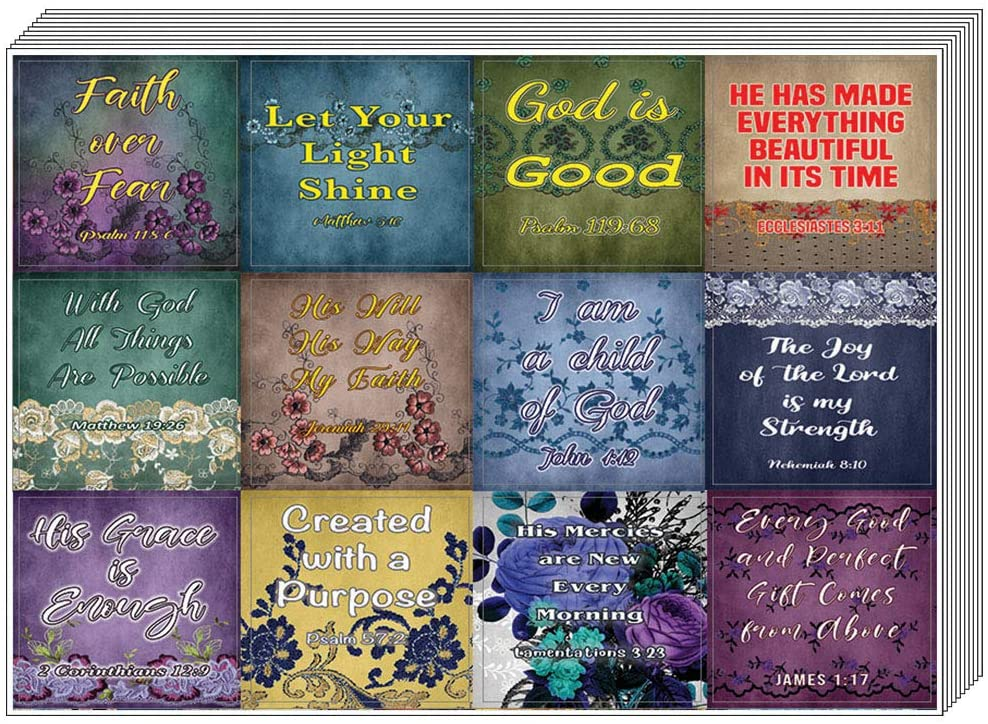 Vintage Religious Stickers for Women Series 2 (20-Sheet) - Well-Designed Women Stickers