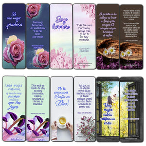 Spanish Devotional Bible Verses for Women Bookmarks