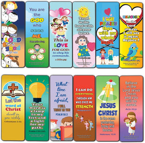Short Bible Verses for Kids Bookmarks (60-Pack) - Great Way For Kids to Learn the Scriptures