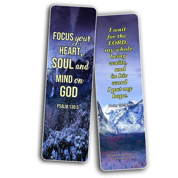 Religious Bookmarks About Waiting on God to Answer Prayer
