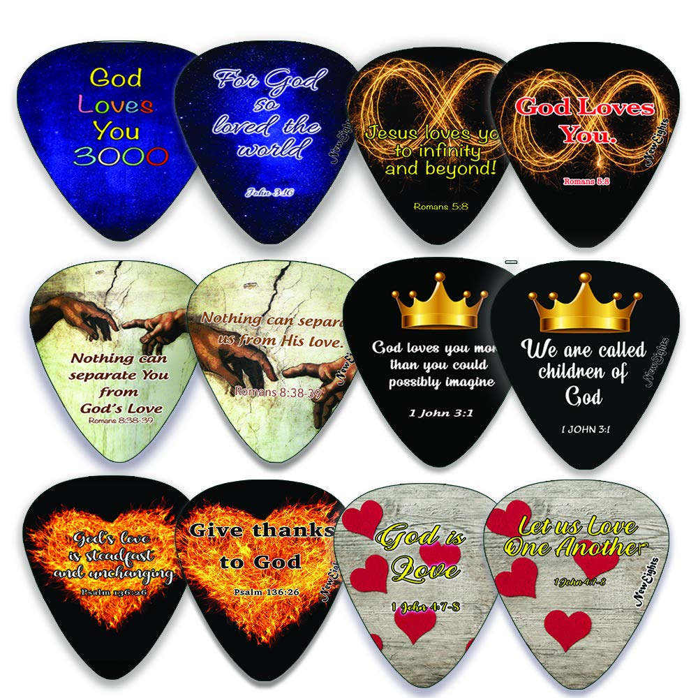 Christian Love You 3000 Guitar Picks (12 Pack)