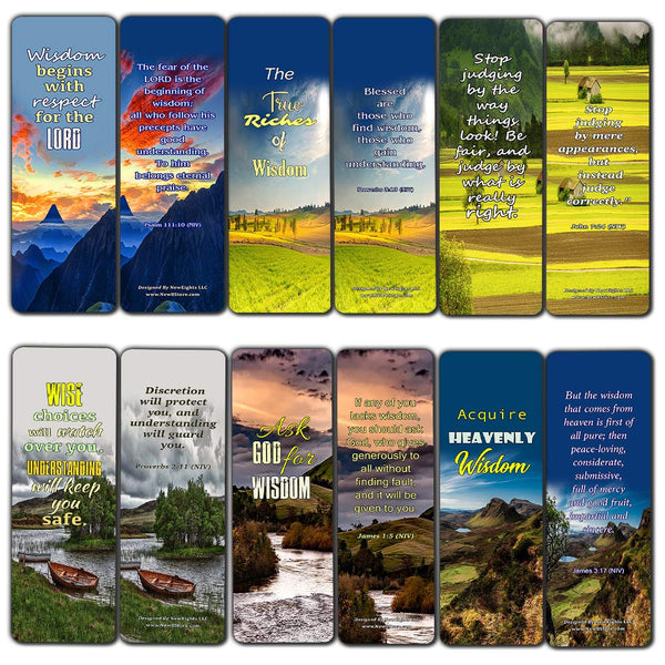 Scriptures Cards Bookmarks About Wisdom and Discernment