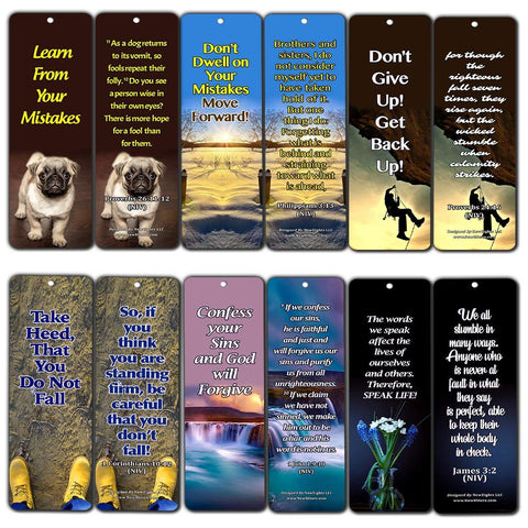 Bible Verses on Learning from Mistakes to Become a Stronger Christian Bookmarks