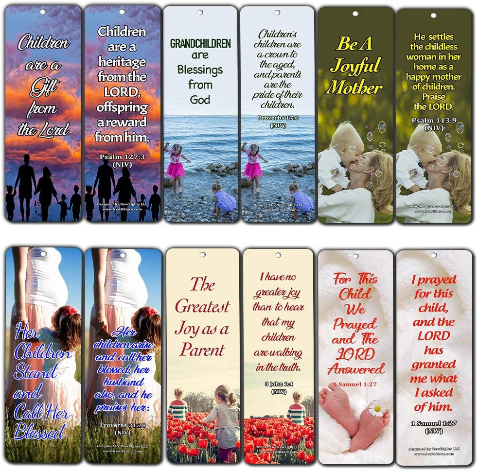 Children Are a Gift From God Bookmarks (30-Pack) - Handy Encouraging Bible Verses Designed for those Planning to Start a Family