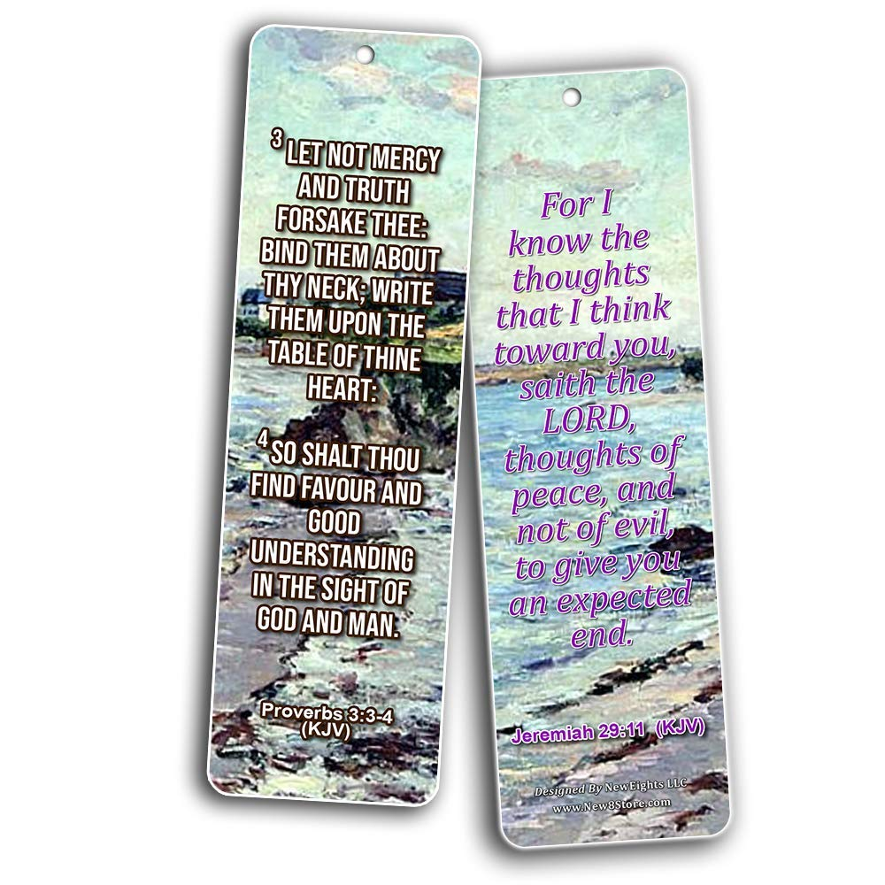 Scriptures Bookmarks to Encourage Men and Women (KJV) – New8Store