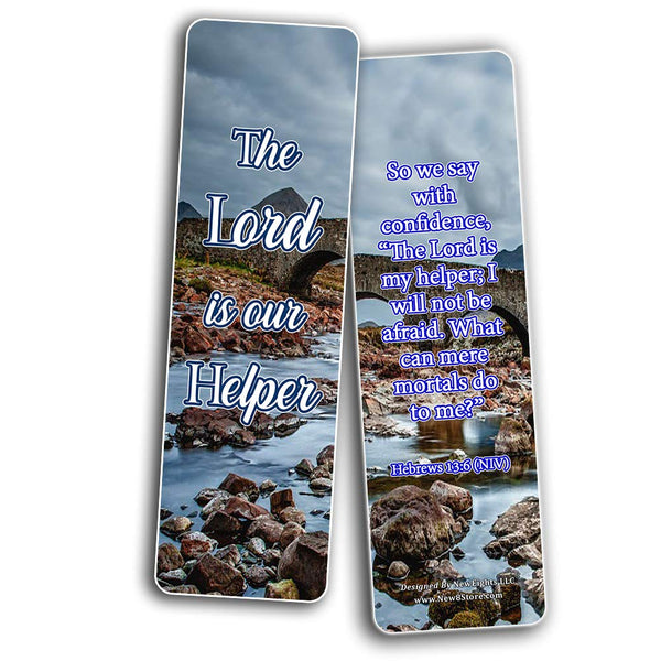 Encouraging Scriptures Bookmarks About God's Protection And Inspire Godly Courage