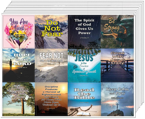 Christian Spiritual Growth Inspirational Stickers (20-Sheet) - Great Variety of Inspirational Stickers