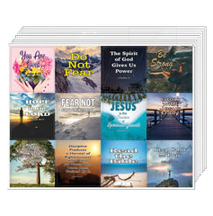 Christian Spiritual Growth Inspirational Stickers (10 Sheets)
