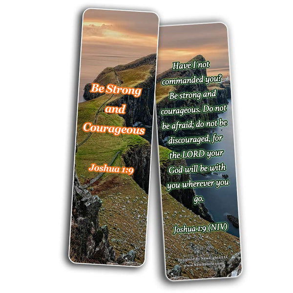 Bible Verses about Courage Bookmarks