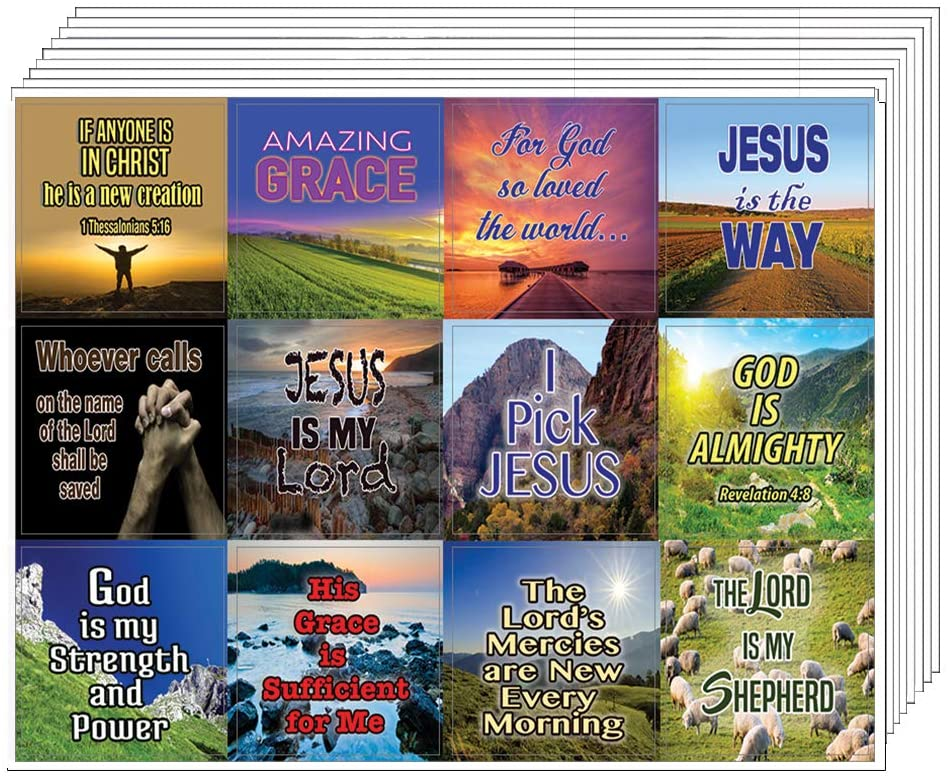 Almighty God Stickers (20-Sheet) - Perfect Giftaway for Ministries