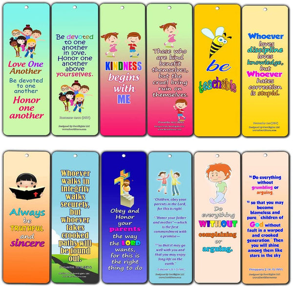 Favorite Bible Verses for Kids - Improve Behavior (30-Pack) - Handy Memory Verses for Kids Perfect for Children?s Ministries and Sunday Schools