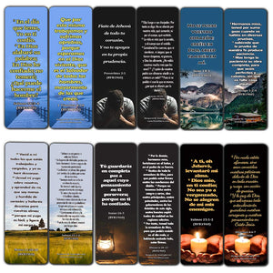 Spanish Religious Bookmarks - Bible Verses About Trusting The Lord During Crisis