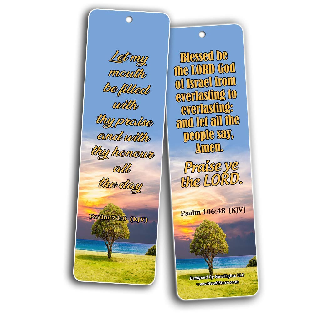 Powerful Bible Verses to Live by Bookmarks KJV – New8Store