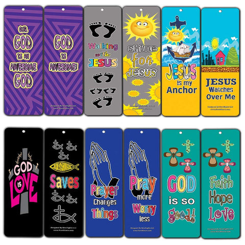 WWJD Jesus is Lord Awesome God Bookmarks for Kids - Awesome God Theme