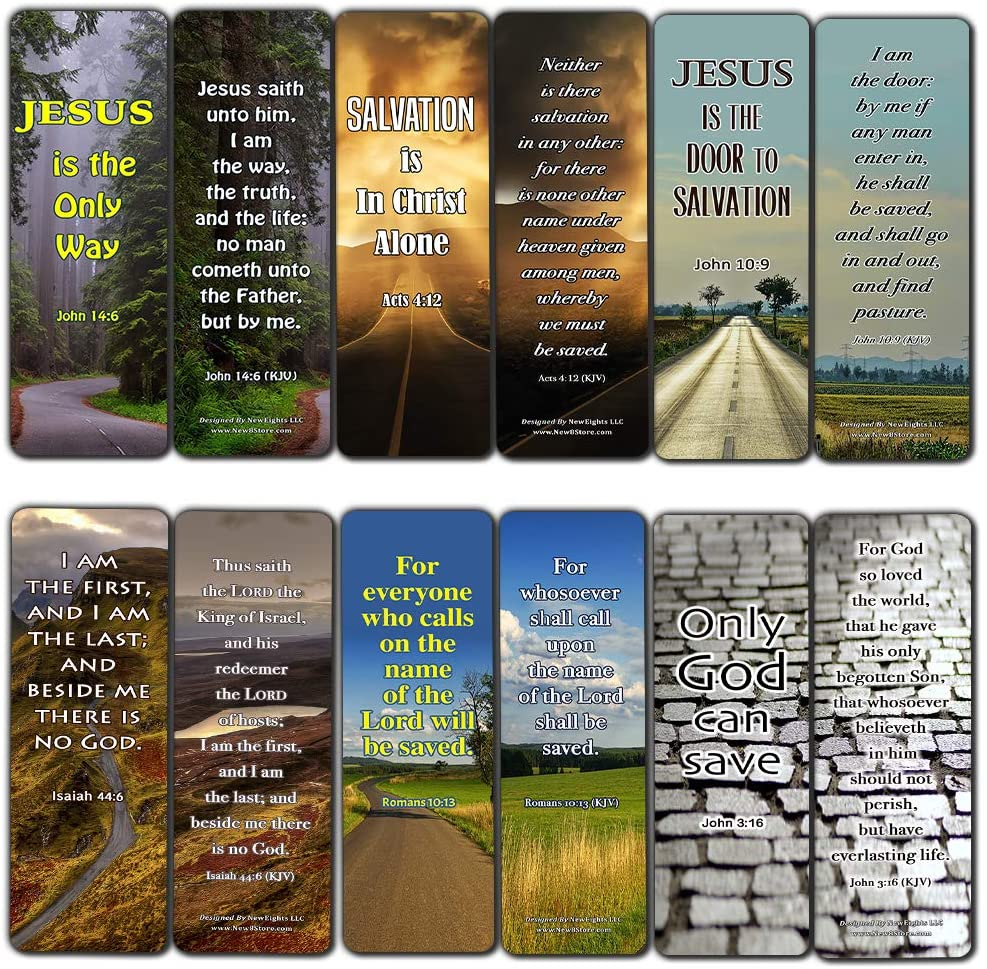 Jesus is the Way KJV Bookmarks Cards (30-Pack) - Handy Christian Daily Reminder